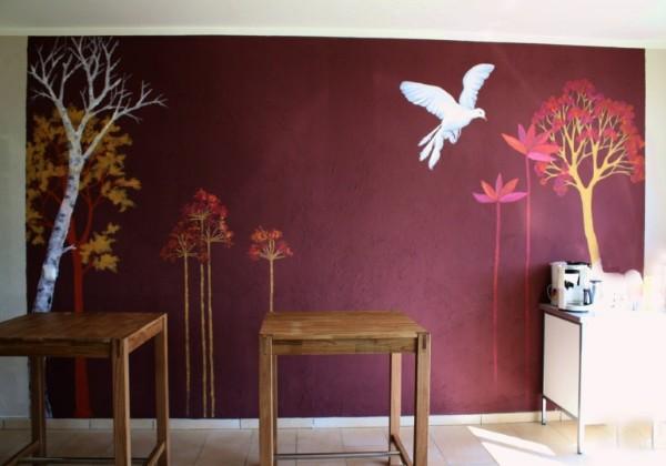wandmalerei. Black Bedroom Furniture Sets. Home Design Ideas