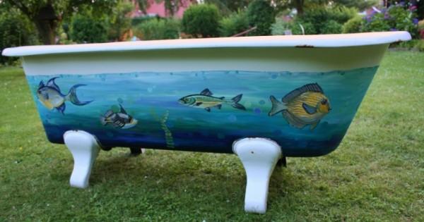 Badewanne Im Garten Bilder : Abstraktes objekte